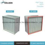 Sala limpia de la alta temperatura resistente al calor del filtro de aire HEPA