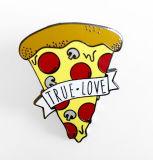Pinstarのかわいい食糧デザインドミノのピザ折りえりPinのバッジ
