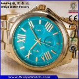 금 색깔 (WY-17005F)의 주문 상표 로고 석영 시계 형식 디지털 시계