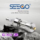 La cartuccia vuota all'ingrosso del vaporizzatore di Seego Vape G-Ha colpito l'atomizzatore doppio del metallo dell'olio della bobina K2