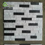Белый с черной полосы Quartzite уступа камня культуры камня по стенам
