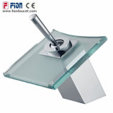 選抜しなさいハンドルの浴室のガラス単一のレバーの滝の洗面器のミキサー(F-9204)を