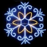 LED branco decoração exterior de Natal Luz Motif floco de neve