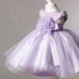 Vestidos roxos da menina do partido da esfera de Organza