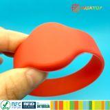 Silikon-GummiRFID Wristband des Zoll-NFC NTAG213 für Hotel-Rücksortierungen