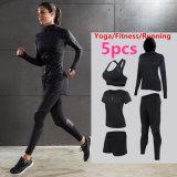tuta sportiva sexy di Activewear di usura di ginnastica di yoga delle donne 5PCS/Set