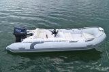 Liya 4.3mのガラス繊維の堅い最下の膨脹可能なボートのRhibのボート