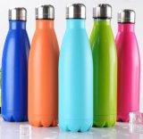 Schwellen füllt Wasser-Flaschen-Sport-kundengerechtes Warenzeichen-Firmenzeichen des Edelstahl-500ml ab