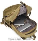 Sac neuf d'élève de sac à dos d'épaule de double de type de sac de Claque-Épaule d'épaule de sac de femme de marée de sac de toile de lavage