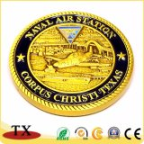 Or Médaille personnalisé Pièce de souvenirs de la marine Médaille de cavalerie
