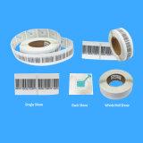 Le collant adhésif d'étiquette de l'identification de touches personnalisables 8.2MHz 4*4cm rf EAS du système d'alarme rf d'EAS pour anti-vol de mémoire utilisé sur le vêtement étiquette la bouteille de shampooing et toute autre surface de non-métal