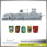 Горизонтальный автоматический раговорного жанра рис Doypack застежки -молнии мешка, машина упаковки мешка зерна заполняя