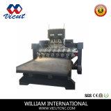 Máquina de madeira giratória múltipla do router do CNC do movimento da tabela do Woodworking