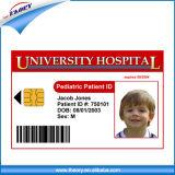 Cartão em branco da identificação dos estudantes do PVC da impressão dobro/Employee//Staff com números de série (fabricante profissional)