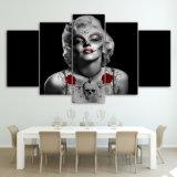 HD de afgedrukte Rode Tatoegering van Marilyn Monroe nam het Schilderen het Canvas van het Beeld van de Affiche van het Af:drukken van het Decor van de Zaal van het Af:drukken van het Canvas toe