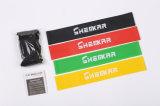 La venta caliente modifica conjunto del bucle para requisitos particulares de las vendas de la resistencia elástico del látex de caucho del entrenamiento el mini de 4PCS