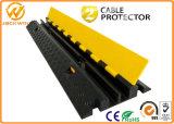 Protezione di gomma del cavo del pavimento di vendita di colore giallo della Manica calda del coperchio 2