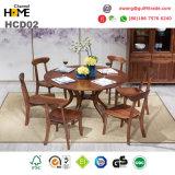 Tabella di Dinning della mobilia della quercia e presidenza di legno (HCD02)