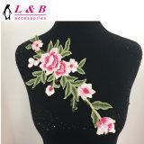 カスタム大型の衣服のアクセサリの花のモチーフのアップリケ