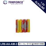 Pile alcaline primaire 1.5volt sec avec ce/l'ISO (9V/9 VOLT/6LR61)