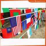 Chaîne de caractères décoratifs colorés de haute qualité Bunting bannière avec drapeau américain Pattern