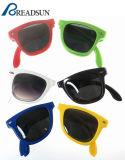 Óculos de sol feitos sob encomenda do plástico da venda por atacado do logotipo da promoção quente do OEM da venda