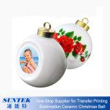 Bola plástica de cerámica en blanco de la Navidad del ornamento de la Navidad de la sublimación