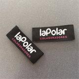 Custom poliéster de alta densidad el doble de cartas más blancos de Brocade etiqueta tejida de prendas de vestir