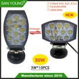 Novo 4 Polegada 30W Uso Duplo trabalho LED LED de luz LED de luz de condução em destaque