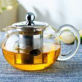 teiera di vetro di vendita 800ml di Assam della pressa calda del tè con la teiera di vetro Handmade del supporto del coperchio con il filtro