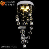 Restaurante lámpara colgante lámpara de araña, Oval Colgante de Cristal Iluminación (OM9341)
