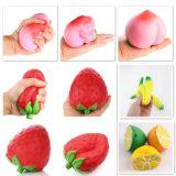 Squishy Bananen-Zitrone-Erdbeere-Pfirsich-entspannen sich Squishy langsame steigende Spielwarenmas-Dekoration-Pressung Druck-Ausdehnungs-Kind-Spielzeug-Geschenk