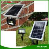 10W 1000lumen IP65 Capteur de mouvement IRP de plein air paysage de sécurité solaire pelouse lumière crue