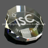 Heißes verkaufendes populäres geätztes Kristallrohling-Glas-Papiergewicht Laser-3D