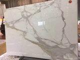 24X24 Wholesale PolierCalacatta weißen Bodenbelag-Marmor für Verkauf