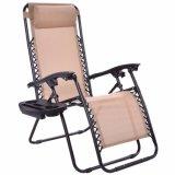 A dobragem cadeira reclinável Camping cadeira com Descanso de Cabeça
