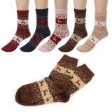 Fontes de Natal Design Moose Tricô veado fêmea lã meias