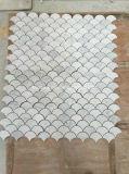 Het Witte Marmeren Mozaïek van Carrara voor de Bekleding van de Muur