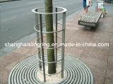 La griglia dell'albero, iarda dell'albero del metallo custodice il prezzo in rete fissa inossidabile