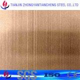 Hoja de acero inoxidable 1.4404 1,4301 en la norma DIN con espejo de color en acero inoxidable