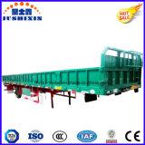De ingesloten Aanhangwagen van de Vrachtwagen van de Lading stortgoed van de Zijgevel met Enige As