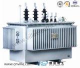 transformateur amorphe triphasé immergé dans l'huile d'alliage de 600kVA 10kv/transformateur de distribution