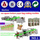 Riesiges Big Roll mit Die Cutting Window Paper Square Bottom Bag Making Machine Paper Einkaufstasche Making Machine