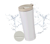 Robinet de lavage à isolation thermique à isolation thermique simple moderne - Tasse de voyage en acier inoxydable 18/8 à double paroi avec couvercle - Flacon en poudre