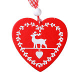 주식에 있는 사슴 천사 다람쥐 디자인을%s 가진 나무로 되는 크리스마스 장신구