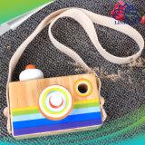 La mini macchina fotografica di legno sveglia gioca il giocattolo classico per i regali di festa di natale di compleanno dei giocattoli dei bambini del bambino
