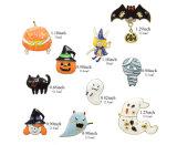 Juwelen van de Broches van de Reeks van Halloween van de Mens van de Knuppel van de Pompoen van het email de Knappe Verguld