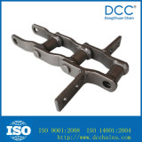 鋳鉄の穀物機械のための溶接されたスクレーパーのコンベヤーのローラーの鎖