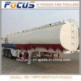 48000 litres (48kl) de réservoir de carburant de camion de remorque de service semi pour le marché du Pakistan