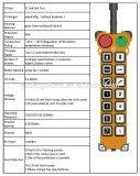 12のチャネルの押しボタンの産業無線リモート・コントロールシステム